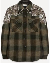 Dries Van Noten Embroidered Cowboy Shirt - Green