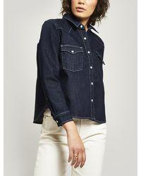 Levi's Shrunken Western Denim Shirt - Blue