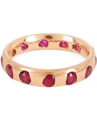 Polly Wales - Rose Gold Celeste Ruby Crystal Ring - Lyst