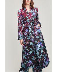 Liberty Desert Rose Silk Satin Long Robe - Pink