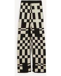 Paloma Wool Puerto Check Jacquard Knit Trousers - Black