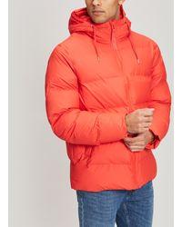 Rains Short Waterproof Thermal Puffer Jacket - Red
