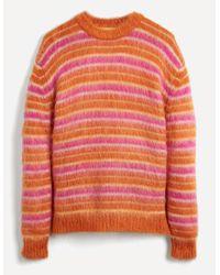 Marni - Mohair-blend Stripe Knit Jumper - Lyst