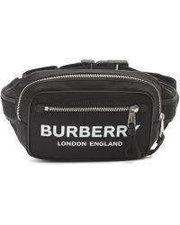 Burberry Text Logo Bum Bag - Black
