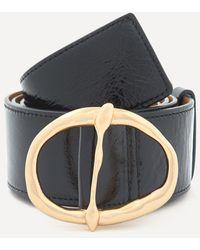 Rejina Pyo Carly Leather Belt - Black