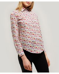 Liberty Queue For The Zoo Tana Lawn' Cotton Bryony Shirt - Multicolour