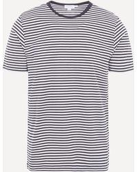 Sunspel Core Classic Stripe T-shirt - White