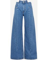 Maison Margiela Panelled High-rise Wide-leg Jeans - Blue