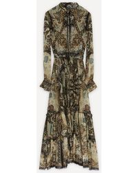 Etro Tiered Printed Dress - Green