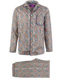 Liberty - Tessa Long Cotton Pyjama Set - Lyst