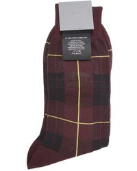 McQ - Tartan Mcqueen Socks - Lyst