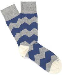 Etiquette - Everest Zig Zag Socks - Lyst