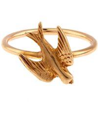 Annina Vogel - Gold Swallow Ring - Lyst