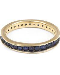 Satomi Kawakita - Gold Absolute Blue Sapphire Band - Lyst