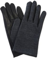 Lanvin - Wool And Leather Gloves - Lyst