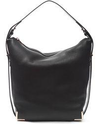 Alexander Wang Prisma Skeletal Leather Hobo Bag - Black