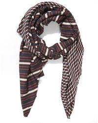 Pierre Hardy - Vintage Stripe And Cube Printed Scarf - Lyst