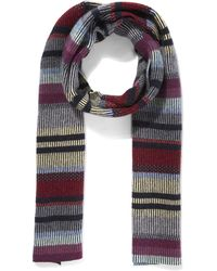 Quinton-chadwick - Float Stitch Striped Scarf - Lyst
