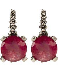Stephen Dweck - Crystal Quartz Red Drop Earring - Lyst