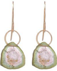 Melissa Joy Manning   Gold Watermelon Tourmaline Single Drop Earrings   Lyst