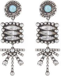 DANNIJO - Silver-plated Pari Long Drop Earrings - Lyst