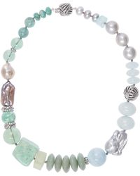Stephen Dweck - Silver Multi-stone Pearl Necklace - Lyst