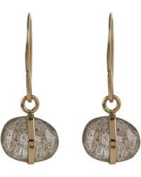 Melissa Joy Manning - Gold And Labradorite Drop Earrings - Lyst