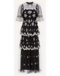 Needle & Thread Amber Petal Gown - Black