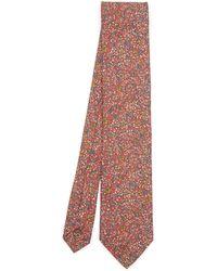 Liberty Toft Printed Silk Tie - Orange