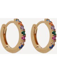 Estella Bartlett Gold-plated Pave Set Cubic Zirconia Huggie Hoop Earrings - Metallic