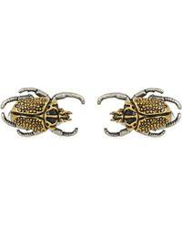 Paul Smith Beetle Cufflinks - Metallic