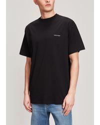 Balenciaga Copyright Logo Cotton T-shirt - Black