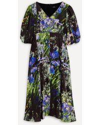 Paul Smith Agapanthus Floral Print Midi-dress - Multicolour