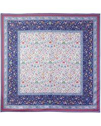 Liberty Imran 90 X 90 Silk Twill Scarf - Blue