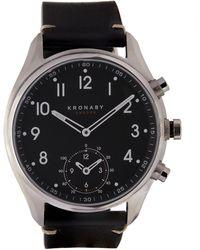 Kronaby - Apex Stainless Steel Leather Strap Smart Watch - Lyst