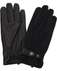 Dents - Guildford Flannel Leather Gloves - Lyst