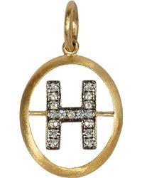 Annoushka 18ct Gold N Diamond Initial Pendant - Metallic