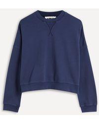 YMC Almost Grown Cotton Sweatshirt - Blue