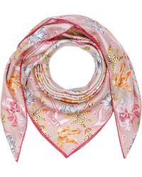 Liberty Bettina 90 X 90cm Silk Twill Scarf - Pink