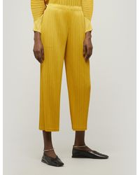 Pleats Please Issey Miyake Monthly Colours Pants - Yellow