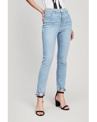 PAIGE Sarah High-rise Straight Leg Jeans - Blue