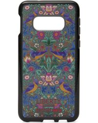 Liberty X Tech21 Pure Print Strawberry Thief Samsung 10s Case - Black