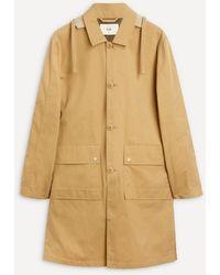 Folk Hooded Mac Coat - Multicolor