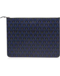 Liberty Large Pouch In Iphis Canvas - Blue