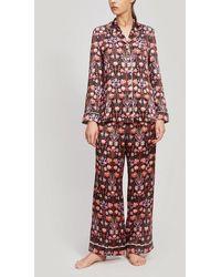 Liberty Virginia Silk Charmeuse Pajama Set - Black