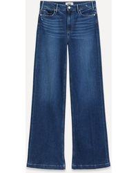 PAIGE Leenah Wide-leg Jeans - Blue