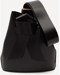 Acne Studios Knotted Leather Bucket Bag - Black