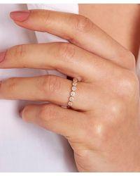 Dinny Hall 14ct White Gold Starflower Diamond Half Eternity Ring - Metallic
