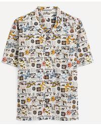 Liberty Mr Face Tana Lawntm Cotton Cuban Collar Casual Shirt - Multicolour