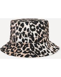 Ganni Recycled Tech Fabric Bucket Hat - Black